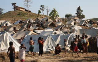 Refugee camp in Myanmar