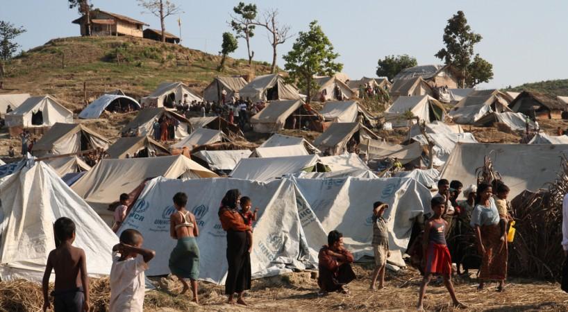 Refugee camp in Myanmar