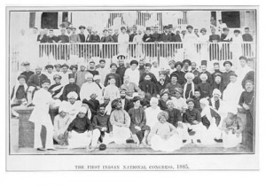 Group photograph of the delegates of the 1885 First Indian National Congress
