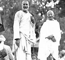 Badshah Khan and Gandhi