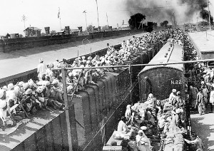 People were packed onto the trains like cattle. Many were murdered during journey