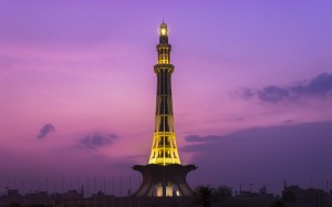 Minare Pakistan monument in Lahore, Pakistan, built to commemorate the Lahore Resolution passed in 1940