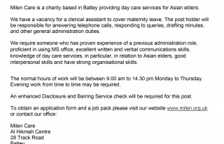 Mien Day Centre is a voluntary organisation based in Batley  cat